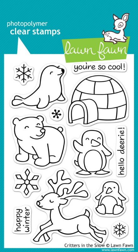 LF0312 ~ CRITTERS IN THE SNOW ~ CLEAR STAMPS BY LAWN FAWN